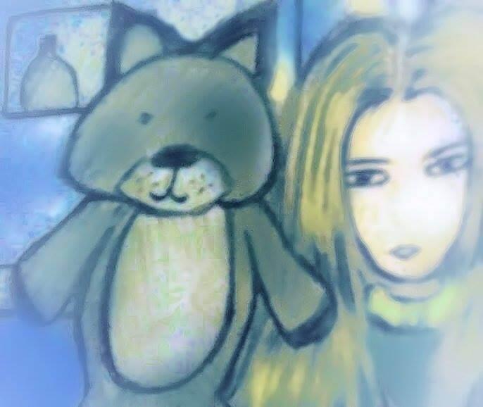 Semjase and teddy bear Nine's Path Pleiadian