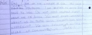 Message from Saveni-il Colinion