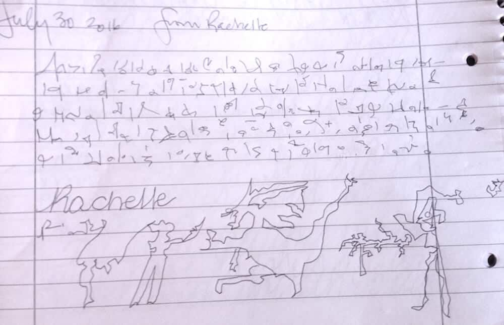 Rachelle's Signature, Light Language, and a Dragon
