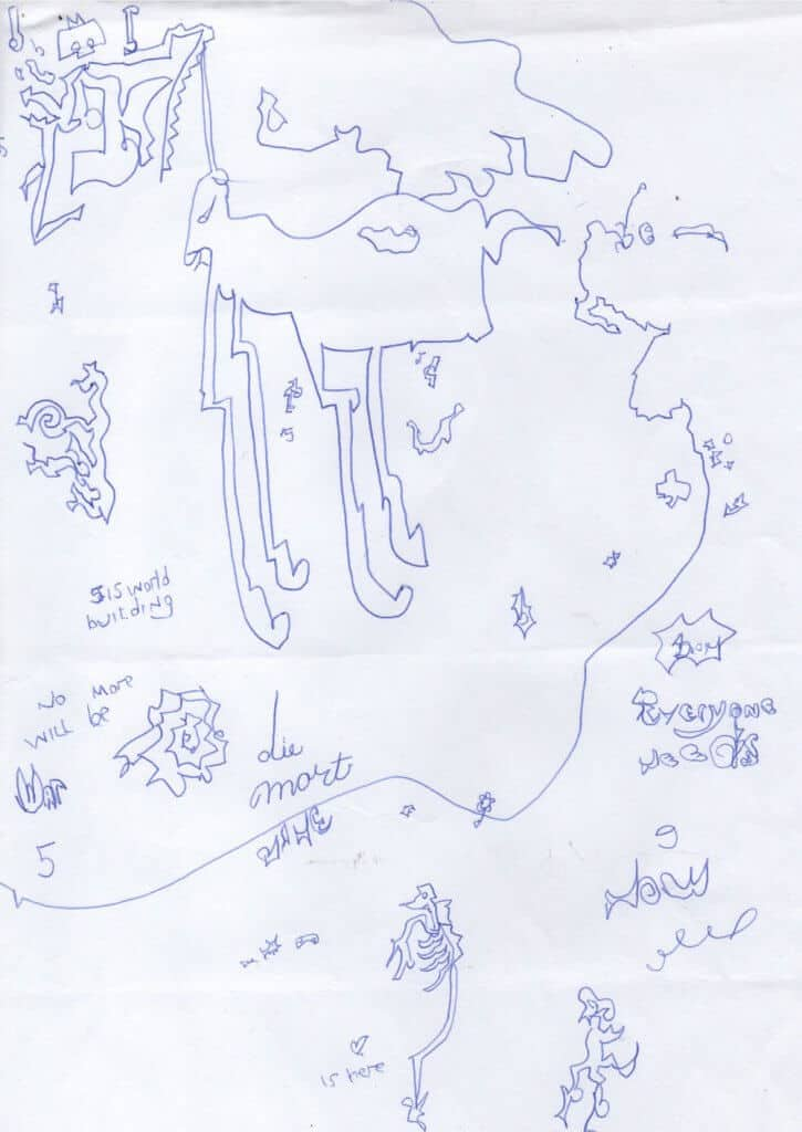 Pleiadian automatic writing drawing Nine's Path map unicorn large