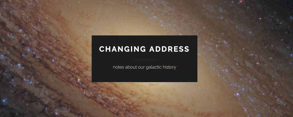 Changing Address