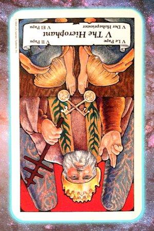 Hierophant reversed Nine's Path Pleiadian tarot