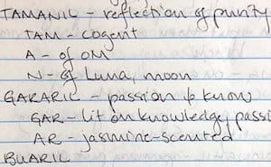 Pleiadian light language dictionary handwriting