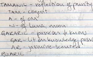 Pleiadian light language dictionary handwriting