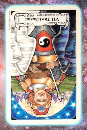 Chariot reversed Nine's Path Pleiadian tarot