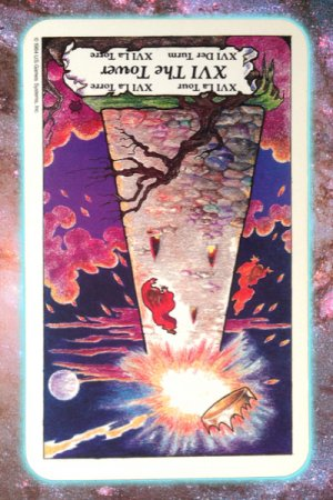 Tower reversed Nine's Path Pleiadian tarot