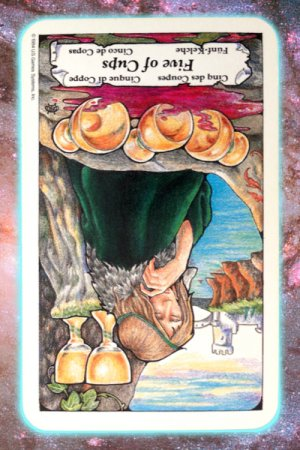 ready to let go reversed 5 cups nine's path Pleiadian tarot