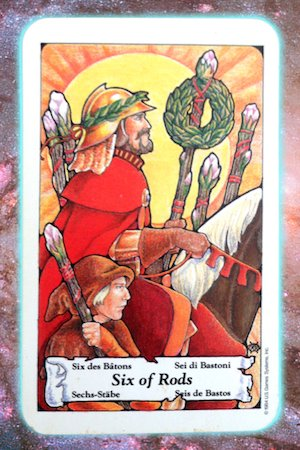 time of recognition six 6 of rods wands nine's path pleiadian tarot