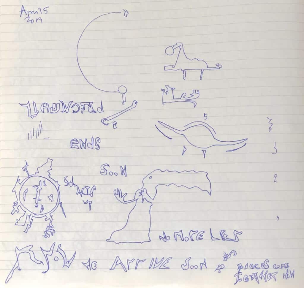 Sol acts up solar Pleiadian automatic writing drawing Nine's Path original transmission diagram