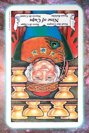 nine 9 cups reversed nine's path pleiadian tarot